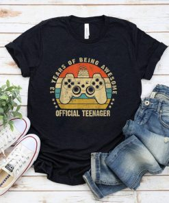 Official Teenager 13 Year Old 13th Birthday Gamer Gaming Boy T Shirt